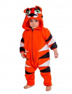 Tiger Kostüm Jumpsuit für Kinder orange-weiss-schwarz