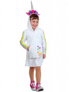 Einhorn Kostüm Kleid für Kinder bunt