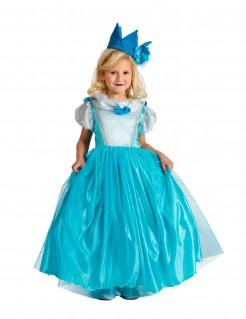 Elegante Prinzessin Kleid Kinderkostüm blau