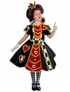 Herzkönigin Kinder Kostüm bunt