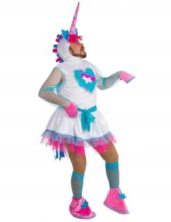 Lustiges Einhorn-Kostüm für Männer bunt