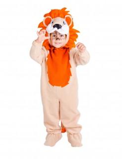 Süßes Löwenkostüm Strampler für Kinder orange-braun