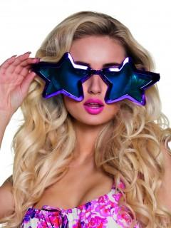 Lustige Riesen Brille Sterne für Erwachsene lila 27 cm