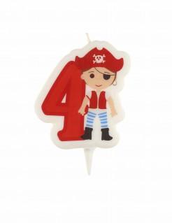 Geburtstagskerze Pirat Ziffer 4