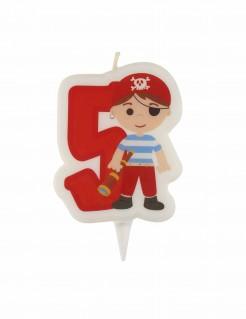 Kinder-Geburtstagskerze - Pirat - 5 Jahre
