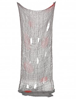 Blutiger Fetzenumhang Halloweendeko grau-rot 75x150cm