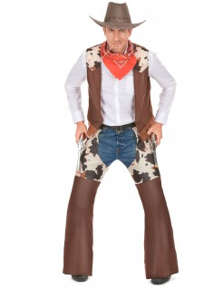 Cowboy-Herrenkostüm Wilder Westen braun-beige