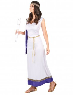 Edle Römerin Kostüm Antike Damenkostüm weiss-lila-gold