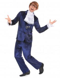 Verrückter Spion Geheimagent Kostüm violett-weiss