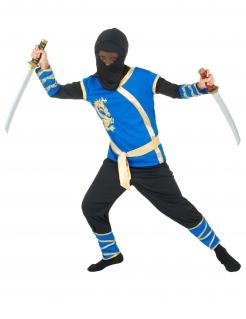 Ninja Krieger Kinderkostüm schwarz-blau