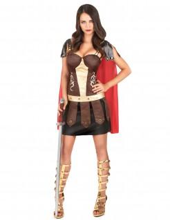 Römische Gladiatorin Damenkostüm Antike bunt