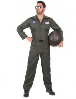 Amerikanischer Pilot Kostüm für Herren khaki