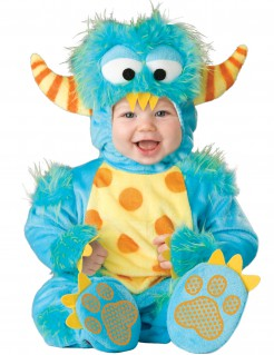 Süsses Monster Babykostüm blau-gelb-orange