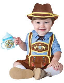 Trachten-Babykostüm Bayer-Kostüm braun-blau-gelb