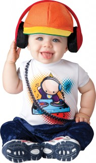 Lustiges DJ Babykostüm bunt