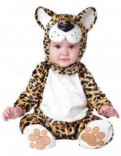 Leoparden Strampler Kostüm für Babys braun-weiss-schwarz
