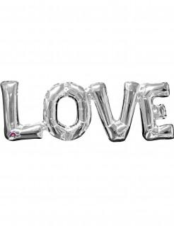 Folienballon Love silber