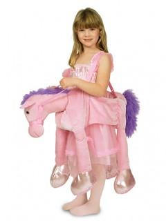 Pferdekostüm zum Umhängen für Kinder rosa