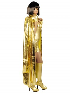 Science-Fiction Umhang 130cm gold