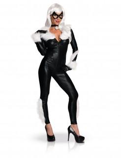 Black-Cat-Kostüm für Damen Marvel™ Faschingskostüm schwarz
