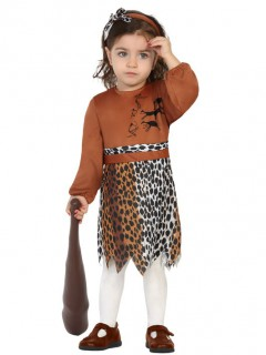 Steinzeitliches Kleinkinderkostüm braun