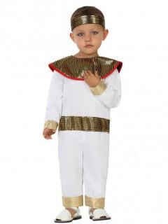 Pharao-Kostüm Kleinkinder - weiß/goldfarben