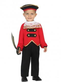 Süßes Piraten Kostüm für Kleinkinder rot-schwarz-gold