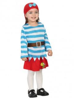 Piratin Kostüm für Kleinkinder bunt