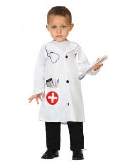 Arzt-Kinderkostüm weiß