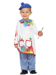 Maler Kostüm Künstler für Kinder bunt