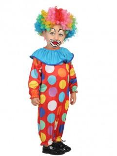 Clown Kostüm gepunktet für Kleinkinder