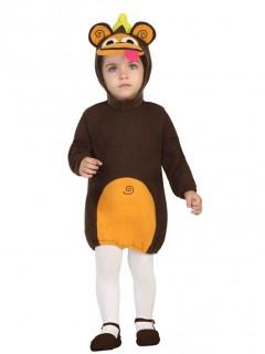 Lustiger Affe Babykostüm Tierkostüm braun