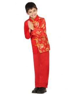 Chinesen-Kostüm für Jungen rot