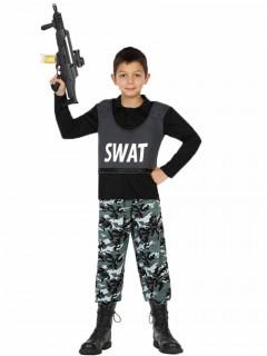 SWAT Soldat Polizei Kostüm für Jungs