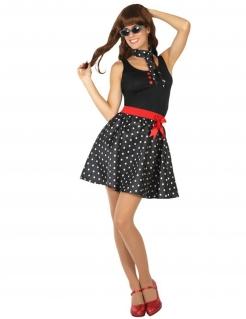 Rockabilly-Damen-Kostüm im Stil der 50er Jahre schwarz