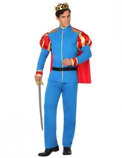 Prinzen-Herrenkostüm blau-rot