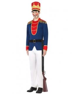 Edles Nussknacker Herren Kostüm blau-weiss-rot