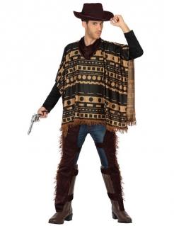 Verruchter Cowboy Kostüm Wilder Westen Plus Size braun-beige