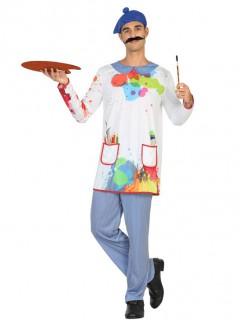 Künstler Maler Kostüm für Herren bunt