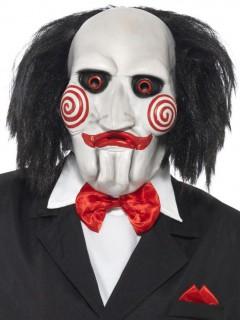 Saw Killer-Maske für Erwachsene schwarz-weiss-rot