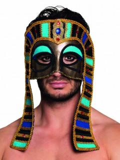 ägyptische Halbmaske Kostümaccessoire gold-bunt