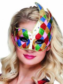Venezianische Augenmaske Glitzer bunt