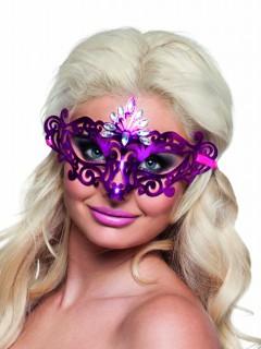 Edle Augenmaske Venezianisch Ornament für Damen lila