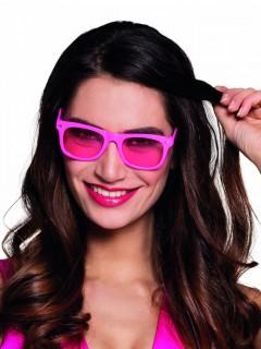 Spaß Partybrille für Erwachsene neonpink