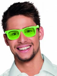 Spaß Partybrille für Erwachsene neongrün