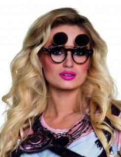 Retro Brille Vintage mit klappbaren Gläsern für Erwachsene braun-schwarz-gold