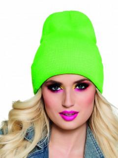 Mütze Wintermütze für Erwachsene neongrün