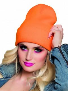 Mütze Wintermütze für Erwachsene neonorange