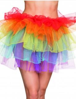 Tutu Tüllock Regenbogen für Damen bunt