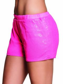 Hotpants mit Pailletten pink